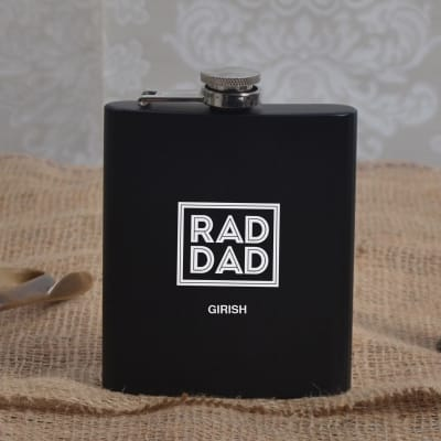 Personalized Rad Dad Hip Flask