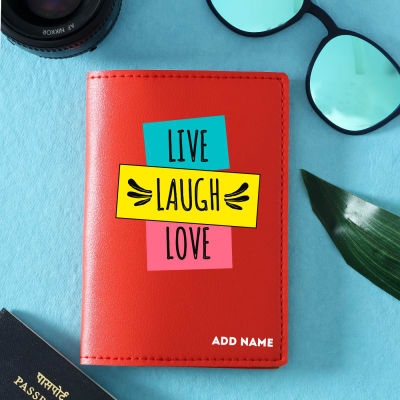 Personalized Red Passport Cover in Red