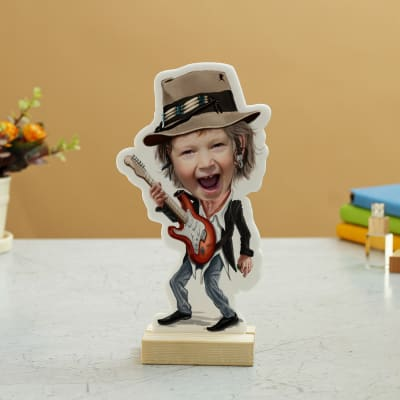 Personalized Rockstar Caricature for Boys