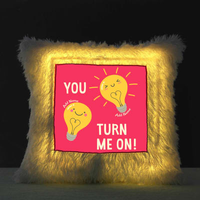Personalized Romantic Quote LED Cushion