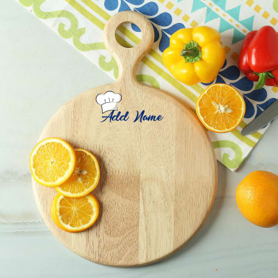 Personalized Round Wooden Chopping Board