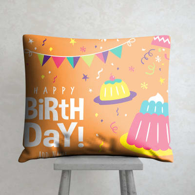 Personalized Satin Cushion For Birthday
