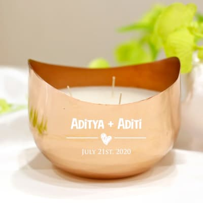 Personalized Scented Candle Votive for Couples