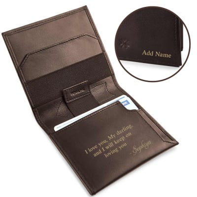 Personalized Slim Wallet with a Message