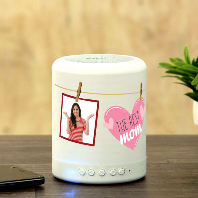 Personalized Smart Touch Mood Lamp Speaker For Mom