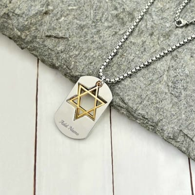 Personalized Star of David Pendant