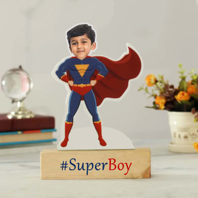 Personalized SuperBoy Caricature for Kids