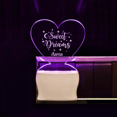 Personalized Sweet Dreams LED Decorative Lamp