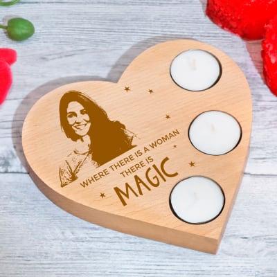 Personalized Tea Light Holder for Women