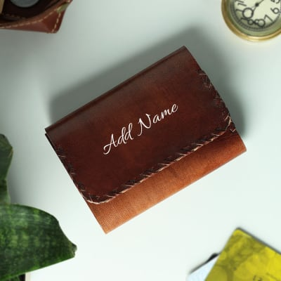 Personalized Unisex Trifold Leather Wallet