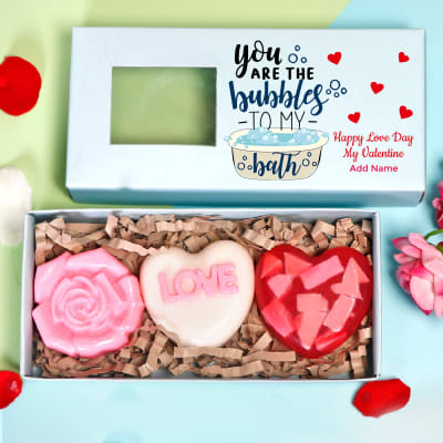 Personalized Valentine Box of Love Soaps - Set of 3