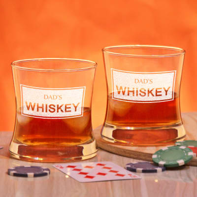 Personalized Whiskey Glasses for Daddy