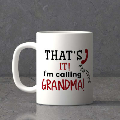 Personalized White Mug for Grandmother