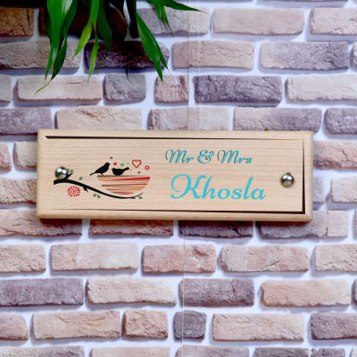 Personalized Wood Name Door Plate