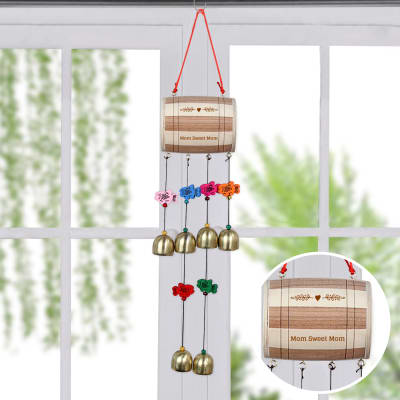 Personalized Wooden & Bell Wind Chime