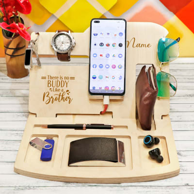 Personalized Wooden Desk Organizer for Brother