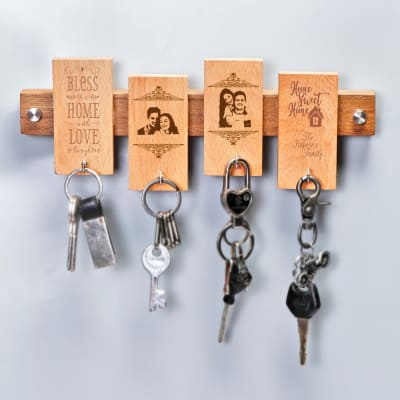 Personalized Wooden Key Holder