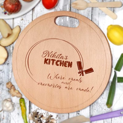 Personalized Wooden Kitchen Chopping Board
