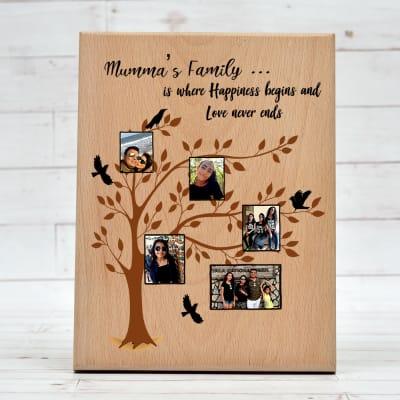 Personalized Wooden Mummas Family Tree Plaque