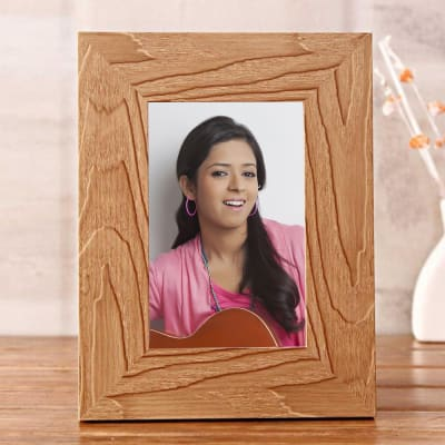 Personalized Wooden Photo Frame: Gift/Send Home and Living Gifts ...