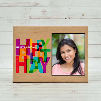 Personalized Wooden Photo Frame for Birthday