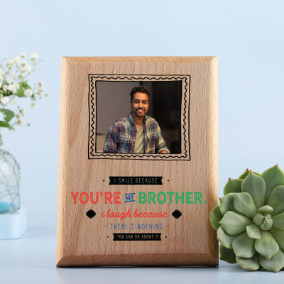 Personalized Wooden Photo Frame for Brother: Gift/Send Home and ...