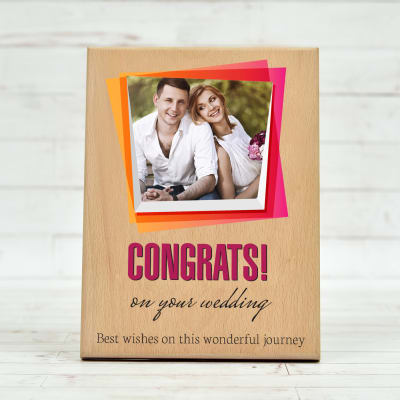 Personalized Wooden Photo Frame for Wedding