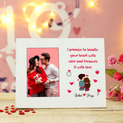 Personalized Wooden Photo Frame with Message
