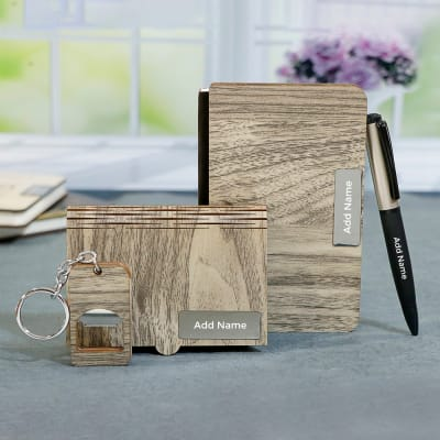 Personalized Wooden Stationery Gift Set