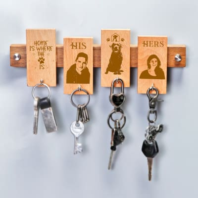 Pet Lover Personalized Wooden Key Holder