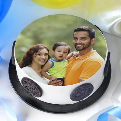 Photo Cake for Family (Half Kg)
