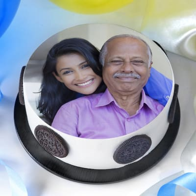 Photo Cake for Father (Half Kg)