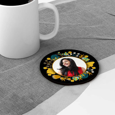 Personalized kitchen dining online send personalized gifts to photo personalized round coaster set negle Choice Image