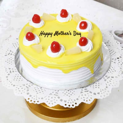 Pineapple Cake Half Kg Gift Send Mothers Day Gifts OnlineHD1031282