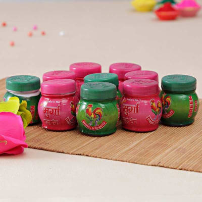 Pink and Green Color Cans