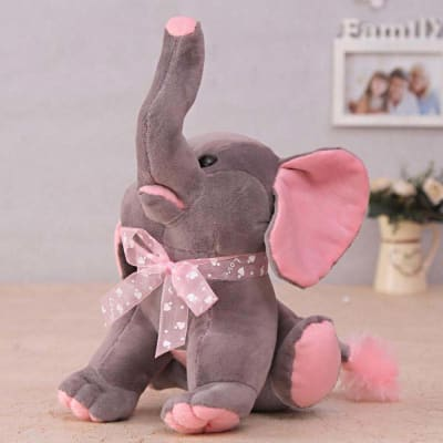 dabe04adf Pink   Grey Soft Baby Elephant for Kids