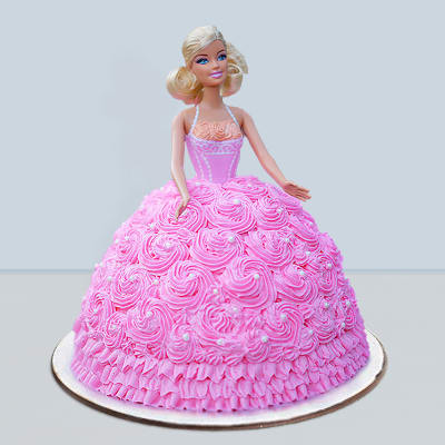 Pink Rose Dress Barbie Cake (2.5 Kg)