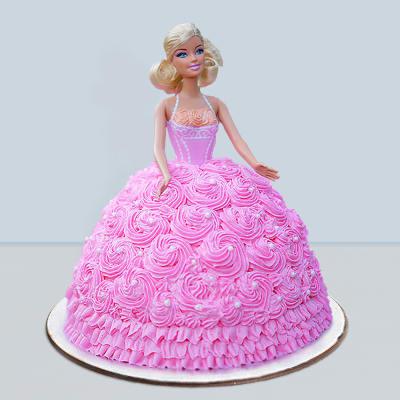 Pink Rose Dress Barbie Cake (2 Kg)