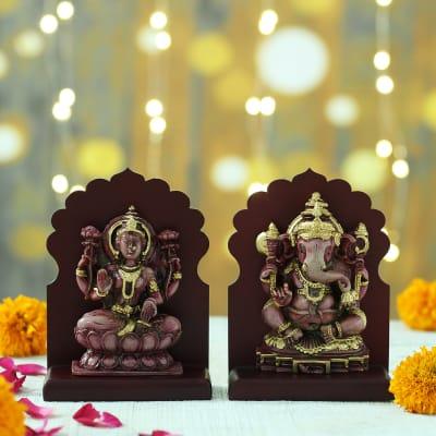 Pink Shade Laxmi Ganesha Idols