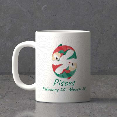 Pisces Sun Sign Birthday Mug
