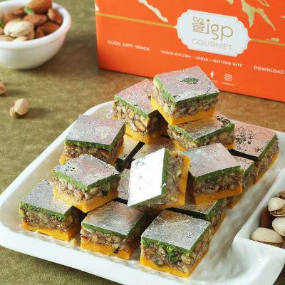 Pista Badam Barfi (500 gm)