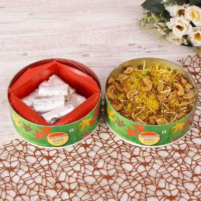 Pista Roll & Kaju Dalmoth Namkeen in a Box