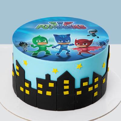 PJ Masks Photo Fondant Cake (1 Kg)