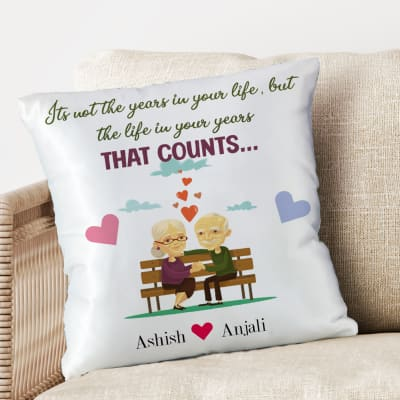 Positive Life  Quotes Personalized Satin Cushion