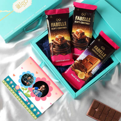 Premium Chocolate Hamper with Personalized Card for Mom