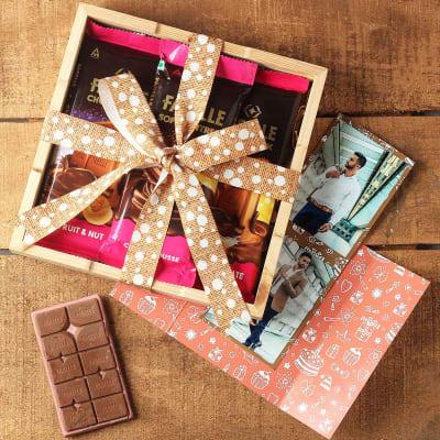 Premium Chocolates Hamper with Photo Card