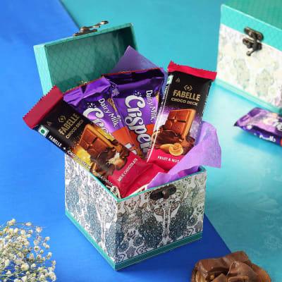 Premium Chocolates in Peacock Motif Gift Box