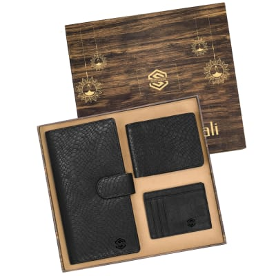 Premium Gift Set of Wallets & Card Holder- Customized with Diwali Theme & Logo