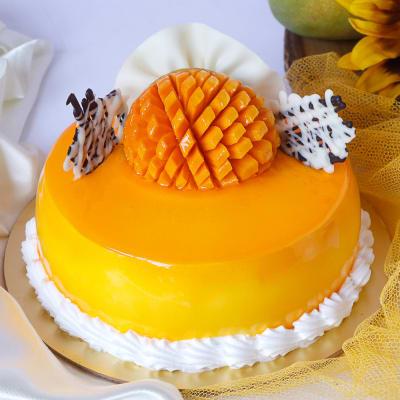 Premium Mango Cake (Eggless) (Half Kg)