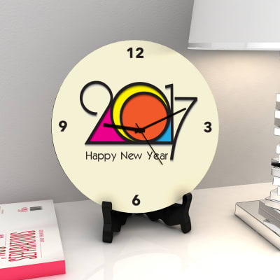 Preppy hues New Year Clock